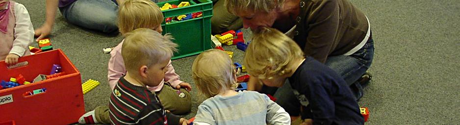 Kita-Castrum-Kinder in der Stadtbibliothek